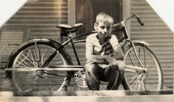 dad and bike