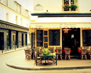 I could spend hours at a sidewalk cafe in Paris, people watching and writing the afternoon away.